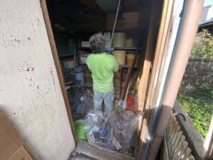 実家の倉庫 作業